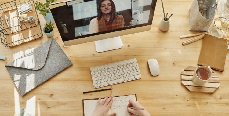 computer on a desktop